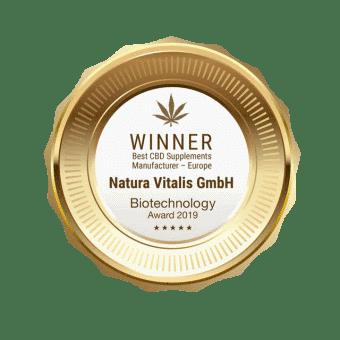 Natura Vitalis CBD Award Winner 2019