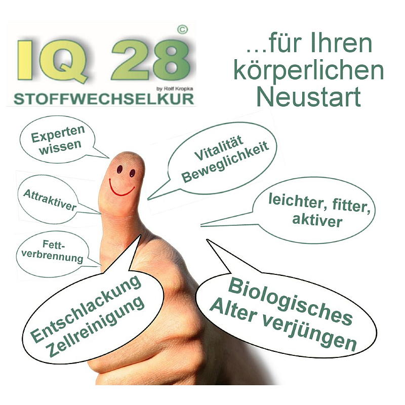 IQ 28 Stoffwechselkur zur Zellreinigung und Entschlakung