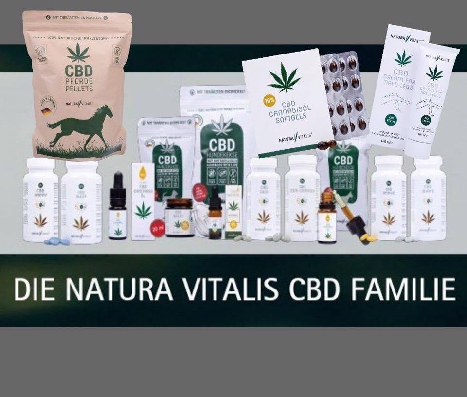 Natura Vitalis CBD Produkte-Familie
