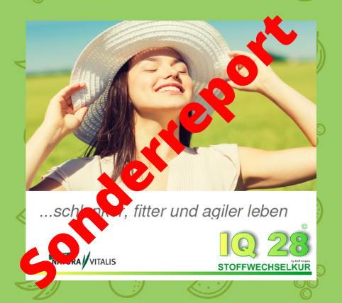 IQ28 Stoffwechselkur Sonderreport jetzt anfordern