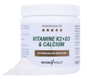Vitamine K2 + D3 und Calcium Natura Vitalis