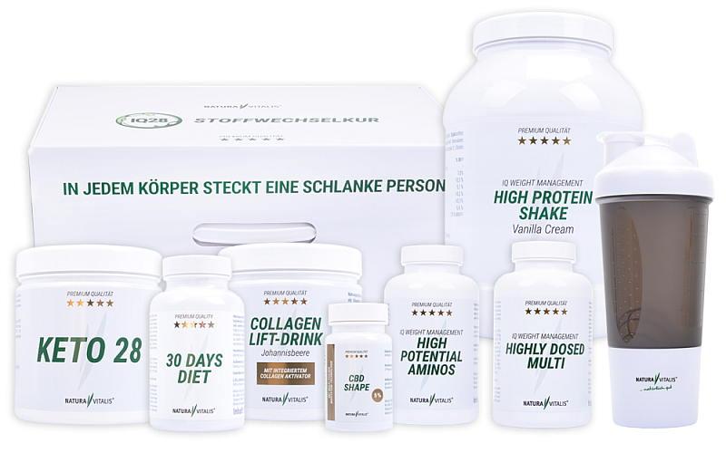 IQ28 Stoffwechselkur mit sensationeller 3-fach-Wirkung, incl. kostenfreiem Booklet mit Rezepten für super leckere, ketogene Gerichte!